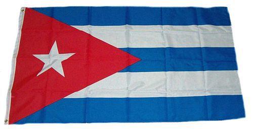 Flagge / Fahne Kuba Hissflagge 90 x 150 cm