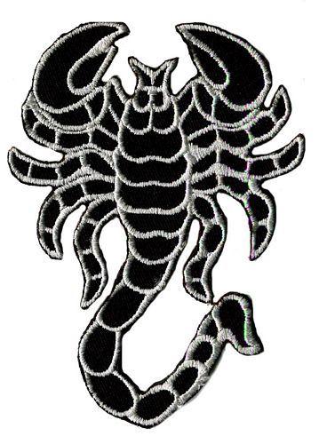 Aufnäher Patch Skorpion weiß