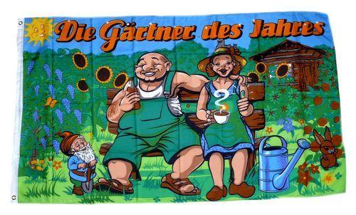 Fahne / Flagge Gärtnerpaar des Jahres 90 x 150 cm
