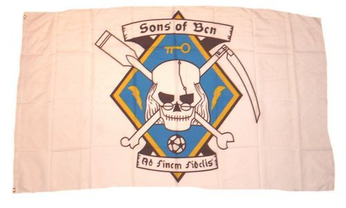 Fahne / Flagge Pirat Sons of Ben 90 x 150 cm