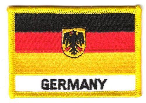 Fahnen Aufnäher Deutschland Adler Schrift