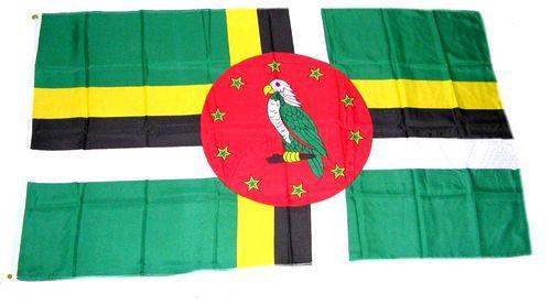 Flagge / Fahne Dominica Hissflagge 90 x 150 cm