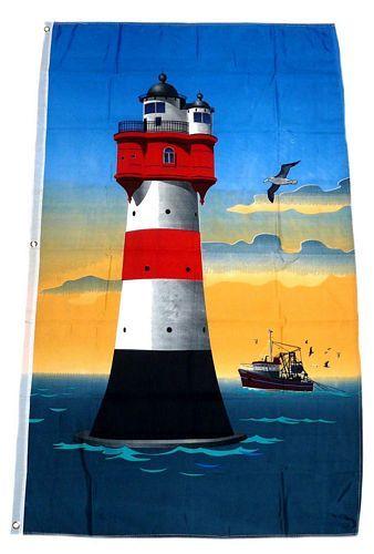 Fahne / Flagge Roter Sand Leuchtturm 90 x 150 cm