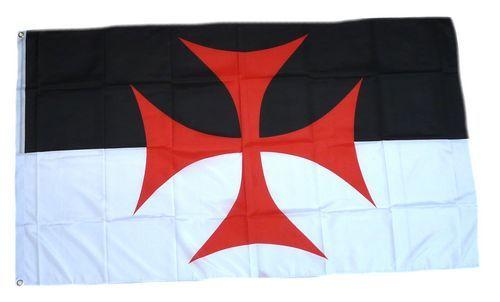 Fahne / Flagge Kreuzritter Templer Kreuz 150 x 250 cm