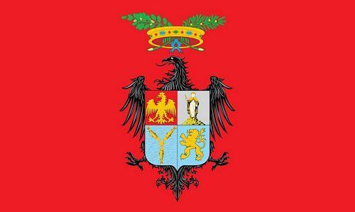 Fahne / Flagge Italien - Provinz Palermo 90 x 150 cm