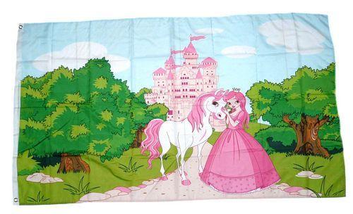 Fahne / Flagge Prinzessin Pferd 90 x 150 cm