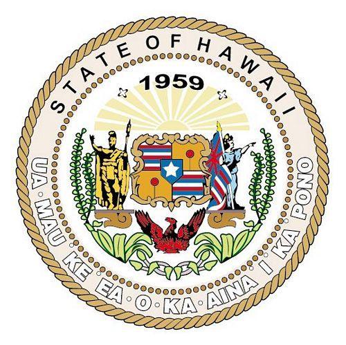 Fahnen Aufkleber Sticker Siegel USA - Hawaii