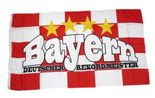 Fahne / Flagge Bayern Rekordmeister Fan 90 x 150 cm