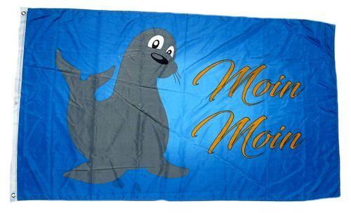 Fahne / Flagge Moin Moin Robbe 90 x 150 cm