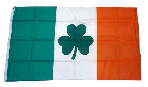 Fahne / Flagge Irland Shamrock Kleeblatt NEU 90 x 150 cm