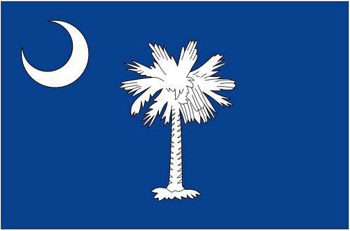 Fahnen Aufkleber Sticker USA - South Carolina