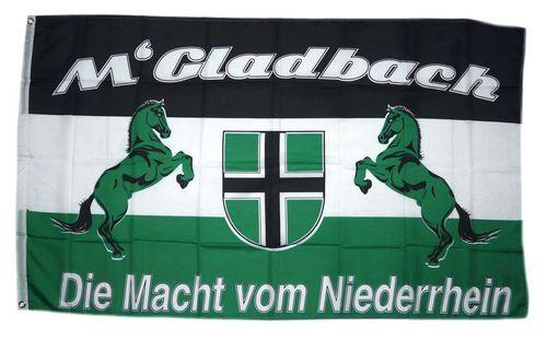 Fahne / Flagge Mönchengladbach Macht vom Niederrhein 90 x 150 cm