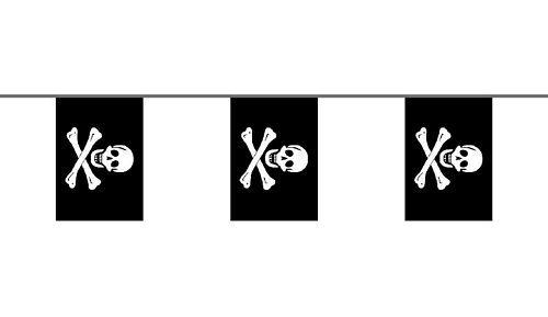 Flaggenkette Pirat Freibeuter 6 m