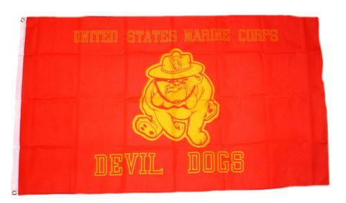 Fahne / Flagge USA - Devil Dogs Marine Corps 90 x 150 cm