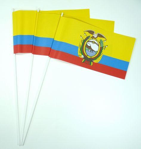 10 Papierfähnchen Ecuador Papierfahnen Fahne Flagge