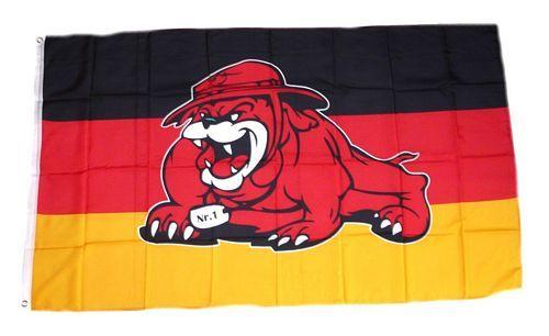 Fahne / Flagge Deutschland Bulldogge 90 x 150 cm