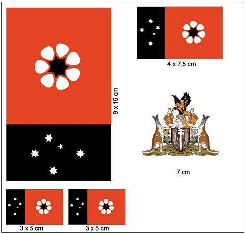 Fahnen Aufkleber Set Australien - Northern Territorium