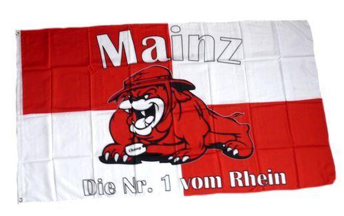 Fahne / Flagge Mainz Bulldogge 90 x 150 cm