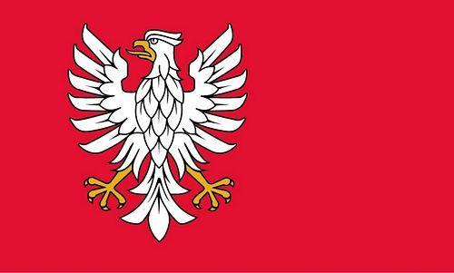 Fahne / Flagge Polen - Woiwodschaft Masowien 90 x 150 cm