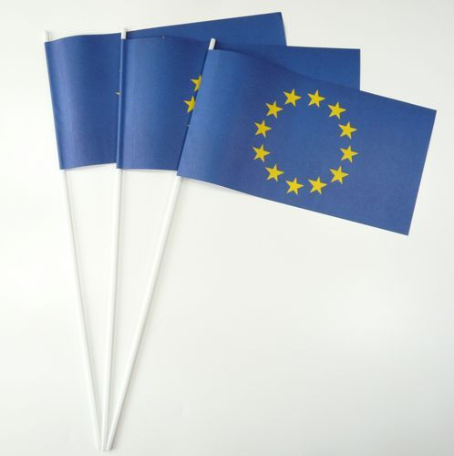 10 Papierfähnchen Europa Papierfahnen Fahne Flagge