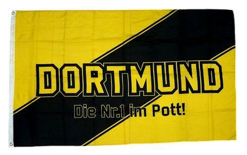 Fahne / Flagge Dortmund Nr. 1 im Pott 90 x 150 cm