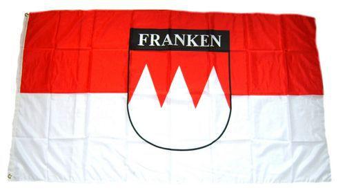 Flagge / Fahne Franken Schrift Hissflagge 90 x 150 cm