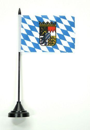 Fahne / Tischflagge Bayern Wappen 11 x 16 cm Flaggen