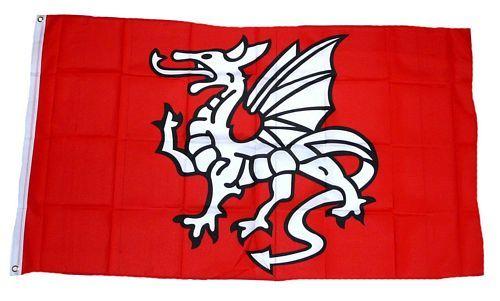 Fahne / Flagge Pentragon Drache 90 x 150 cm