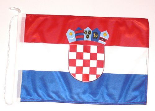 Bootsflagge Kroatien 30 x 45 cm