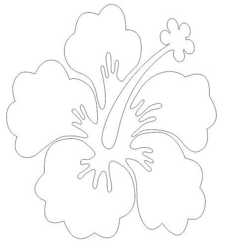 Autoaufkleber Sticker Hibiskus Blüte Blume weiß | Aufkleber Kontur ...