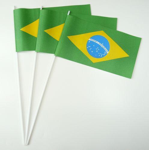 10 Papierfähnchen Brasilien Papierfahnen Fahne Flagge