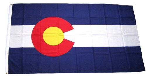Fahne / Flagge USA - Colorado 90 x 150 cm