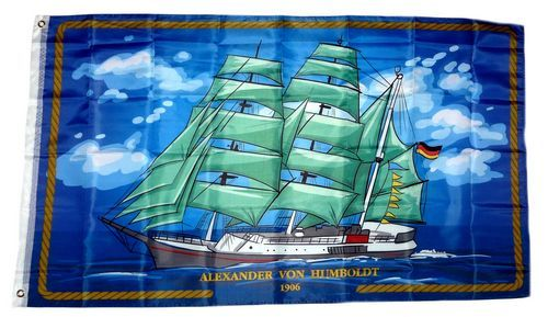 Flagge / Fahne Alexander von Humboldt 90 x 150 cm