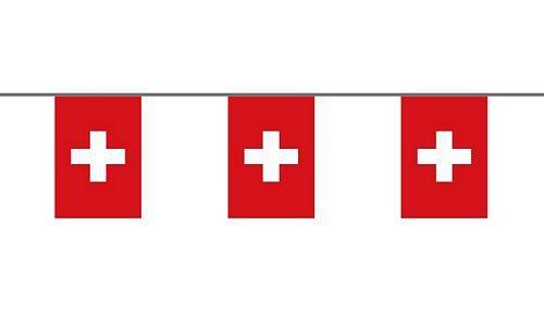 Flaggenkette Schweiz 6 m