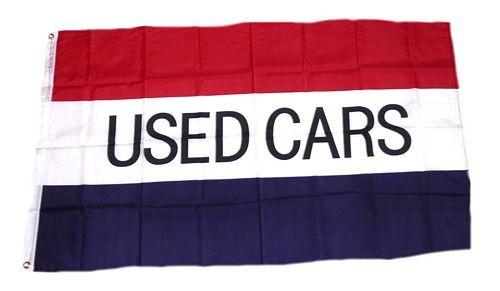 Fahne / Flagge Used Cars 90 x 150 cm