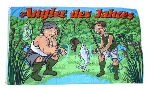 Fahne / Flagge Angler des Jahres 90 x 150 cm