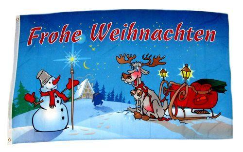 Fahne / Flagge Frohe Weihnachten Sterne 60 x 90 cm