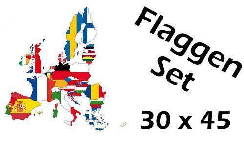 Flaggenset Europäische Union 30 x 45 cm