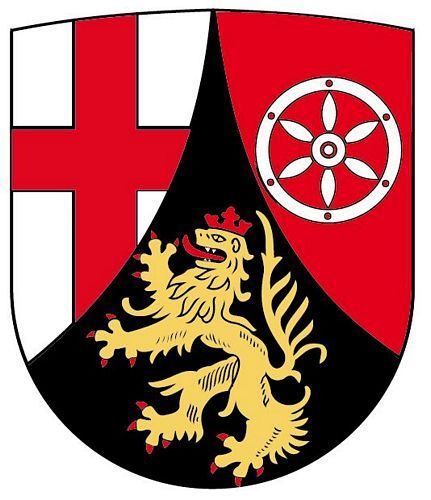 Wappenschild Aufkleber Sticker Rheinland Pfalz