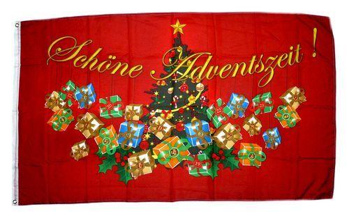 Fahne / Flagge Schöne Adventszeit 60 x 90 cm