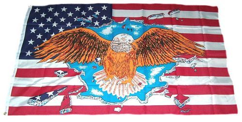 Fahne / Flagge USA - Adler 90 x 150 cm