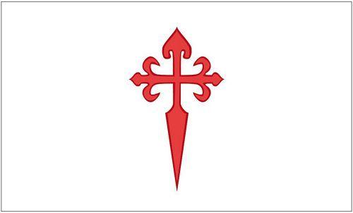 Fahne / Flagge Orden von Santiago 90 x 150 cm