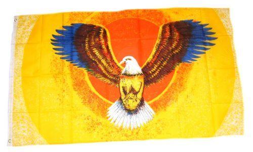 Fahne / Flagge Bunter breiter Adler 90 x 150 cm