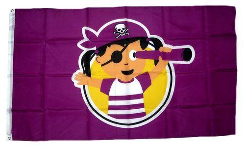 Fahne / Flagge Pirat Girl 90 x 150 cm
