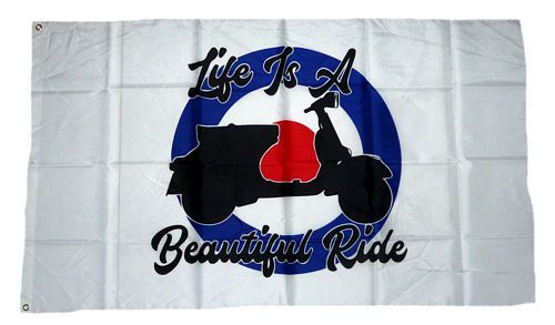 Fahne / Flagge Life is a beautiful Ride 90 x 150 cm