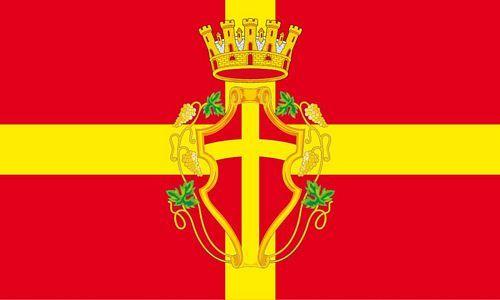 Fahne / Flagge Italien - Messina 90 x 150 cm
