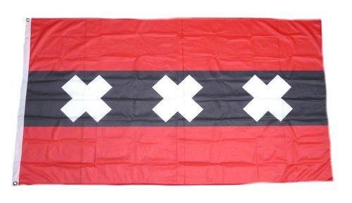 Fahne / Flagge Niederlande - Amsterdam 90 x 150 cm