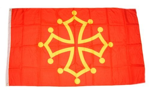 Fahne / Flagge Frankreich - Midi Pyrenees 90 x 150 cm