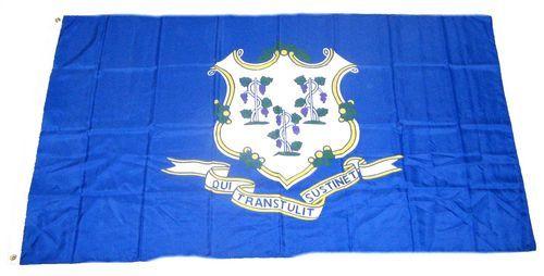 Fahne / Flagge USA - Connecticut 90 x 150 cm