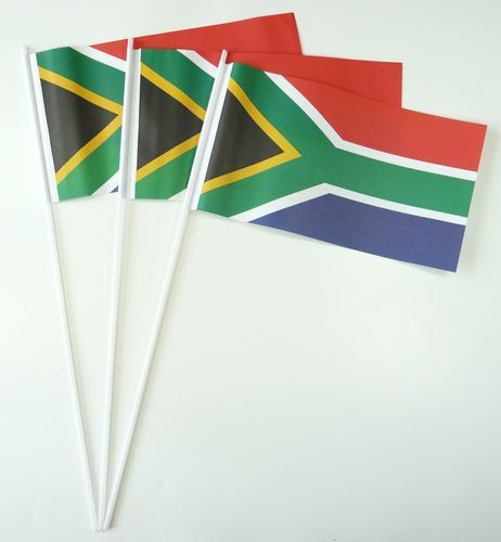 10 Papierfähnchen Südafrika Papierfahnen Fahne Flagge